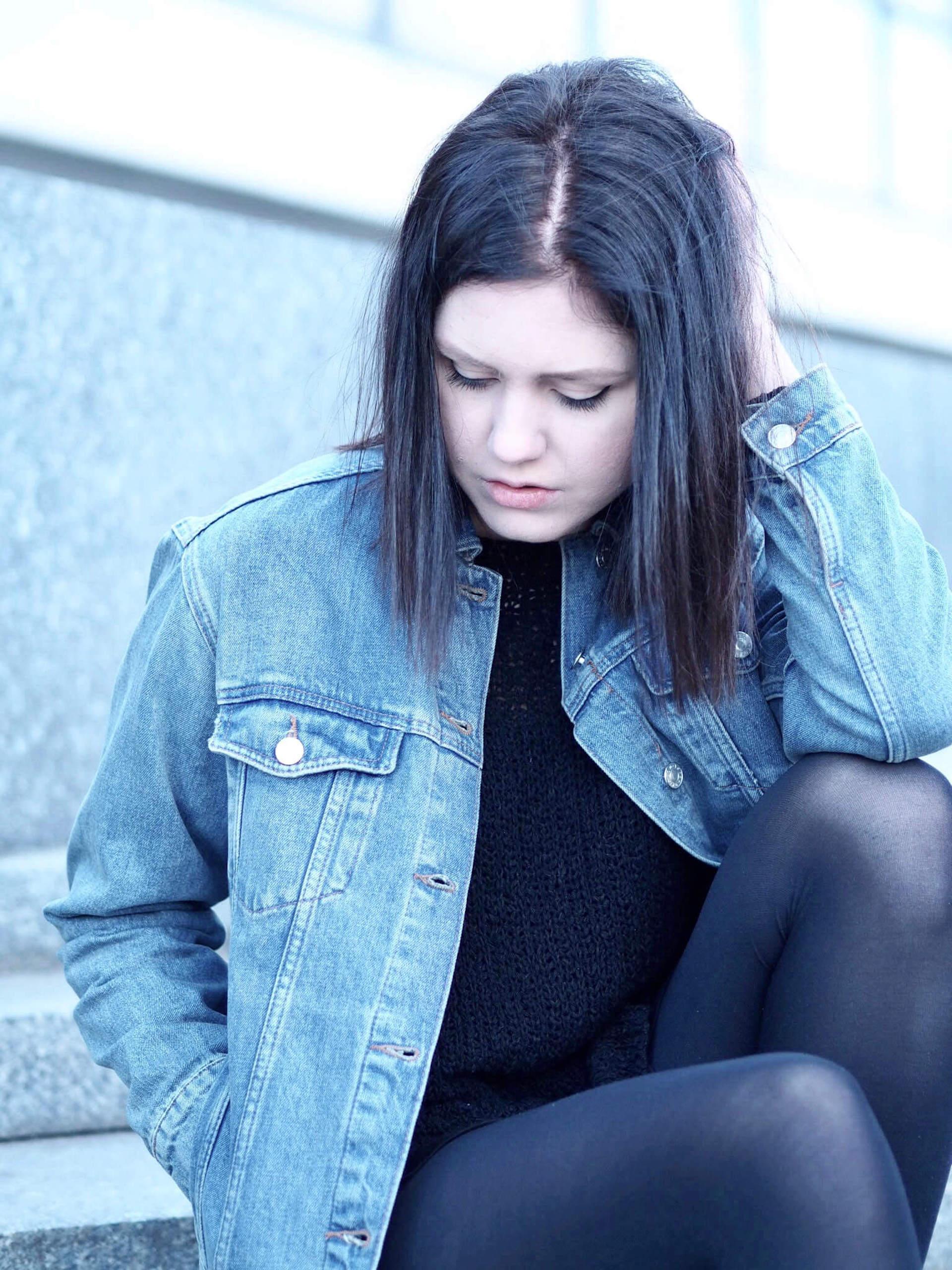 Jarní outfit džínová bunda