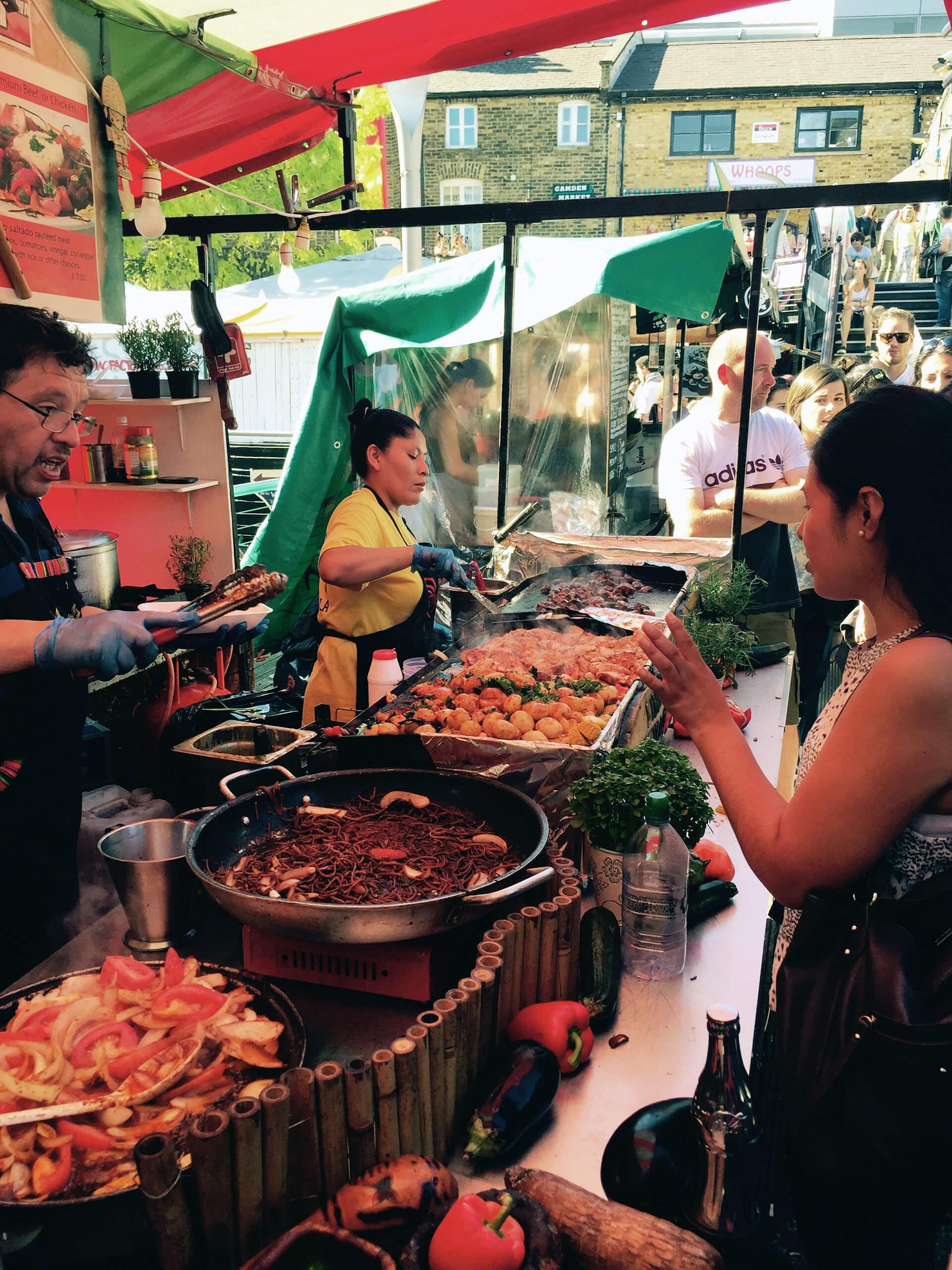 Mexická kuchyně v Camden Market